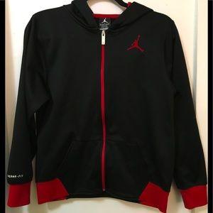 Boy's Black and Red Jordan full zip hoodie jacket